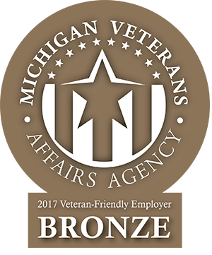 Michigan Veterans Certified Employer Bronze Badge